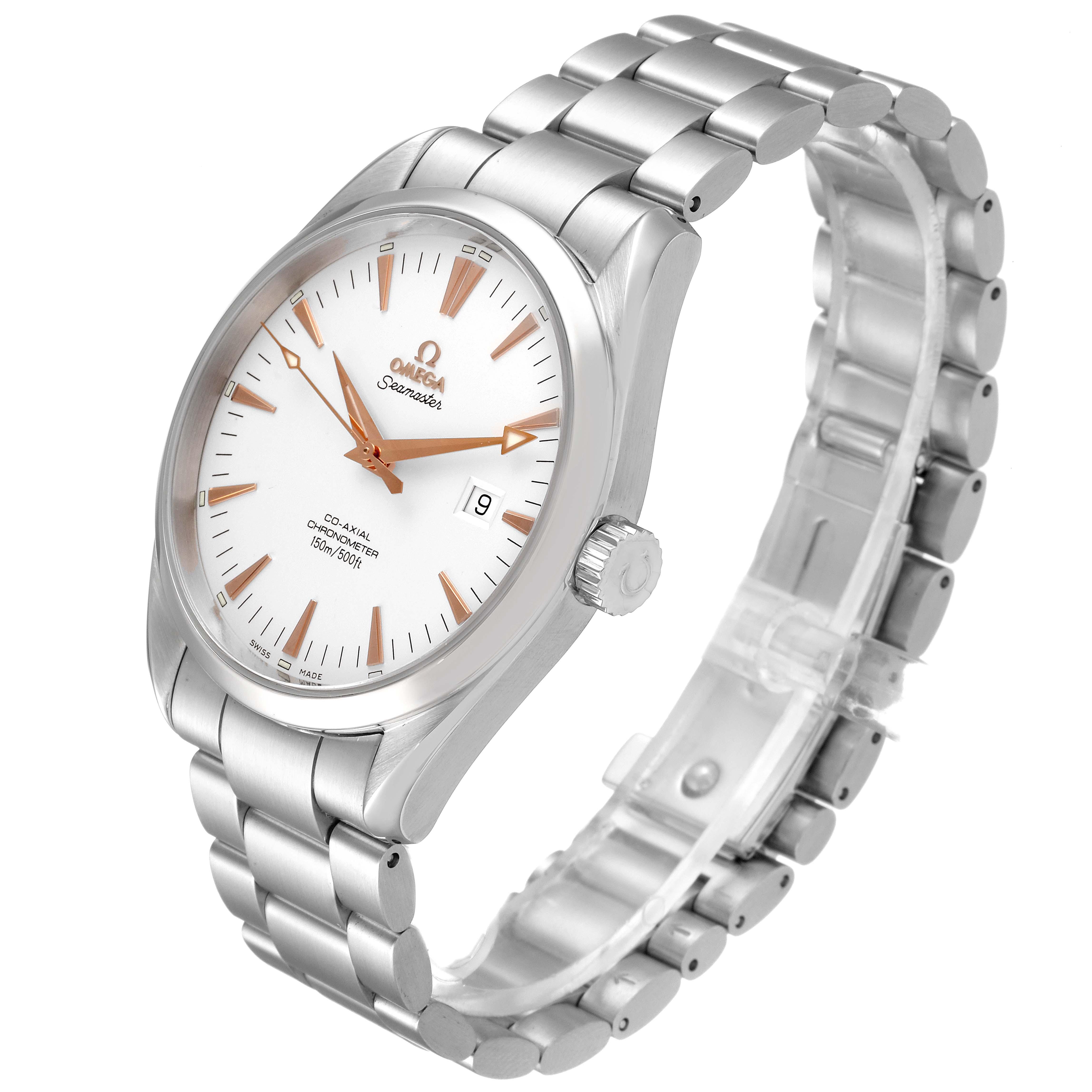 Omega Seamaster Aqua Terra Silver Dial Steel Mens Watch 2502.34.00 SwissWatchExpo