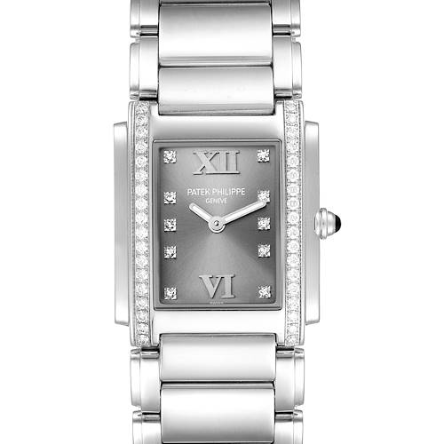 Photo of Patek Philippe Twenty-4 Grey Diamond Dial Steel Ladies Watch 4910