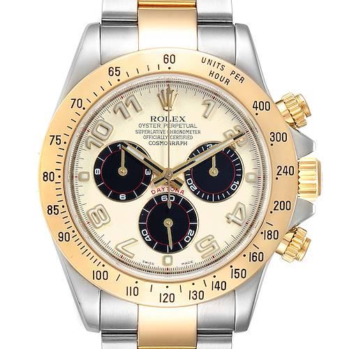 Photo of Rolex Daytona Panda Dial Steel Yellow Gold Mens Watch 116523 Box Papers