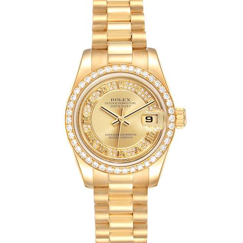Photo of Rolex President Ladies Yellow Gold Myriad Diamond Ladies Watch 179138