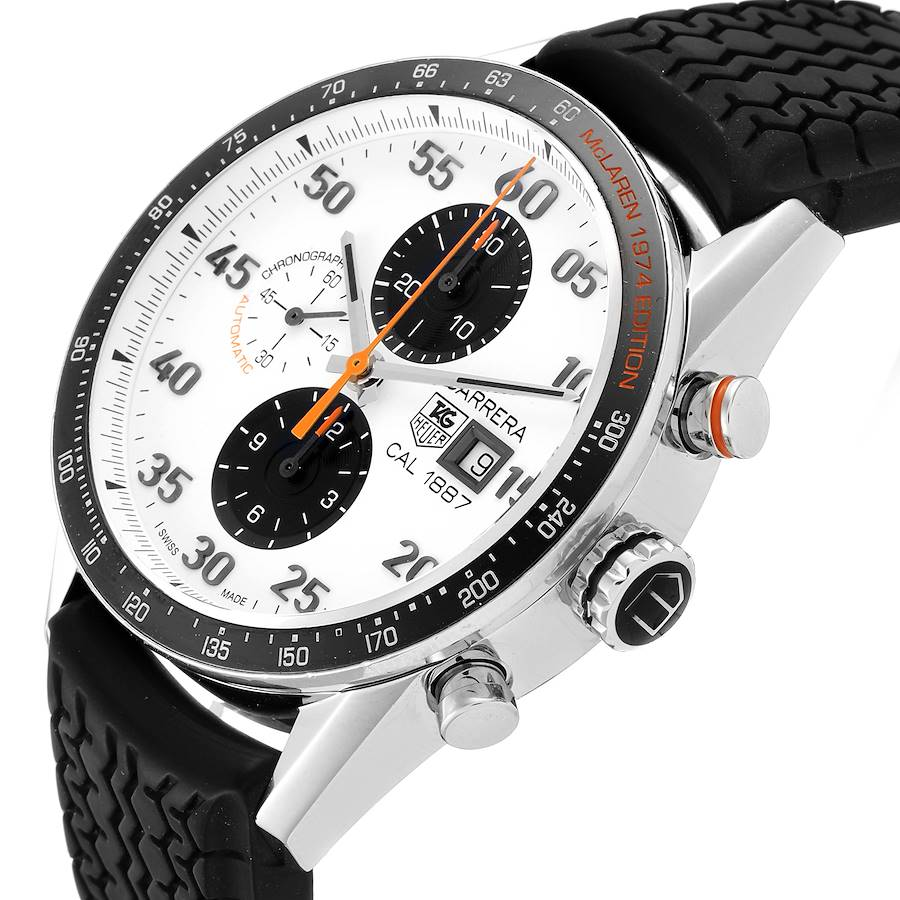 Tag Heuer Carrera Calibre 1887 Steel Mens Watch CAR2A12 Box Papers SwissWatchExpo
