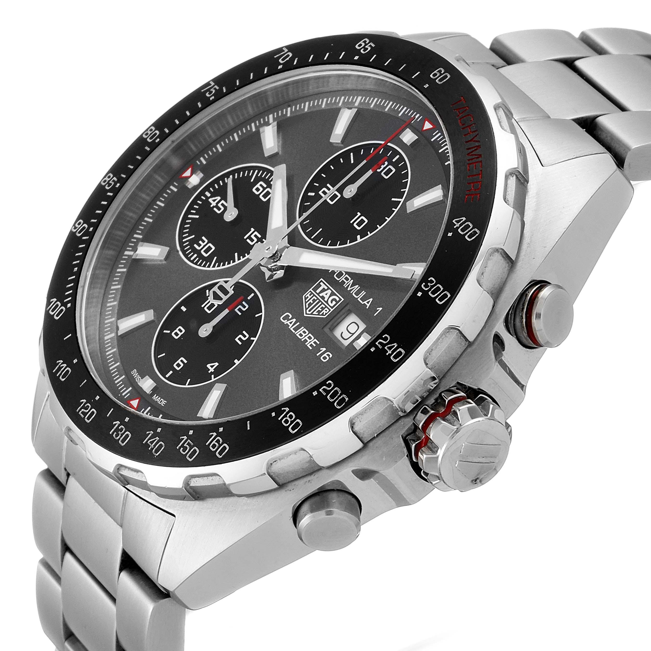 Tag Heuer Formula 1 Calibre16 Chronograph Steel Mens Watch CAZ2012 SwissWatchExpo