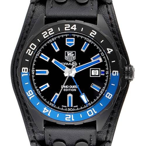 Photo of Tag Heuer Formula 1 GMT David Guetta Titanium PVD Batman Watch WAZ201A