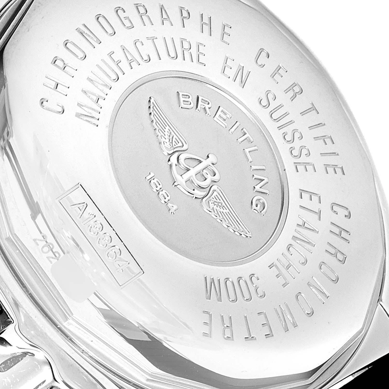 Breitling Galactic II Chronograph Grey Dial Steel Mens Watch A13364 Unworn SwissWatchExpo