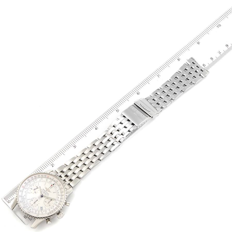 Breitling Navitimer Chronograph Silver Dial Steel Mens Watch A23322 SwissWatchExpo