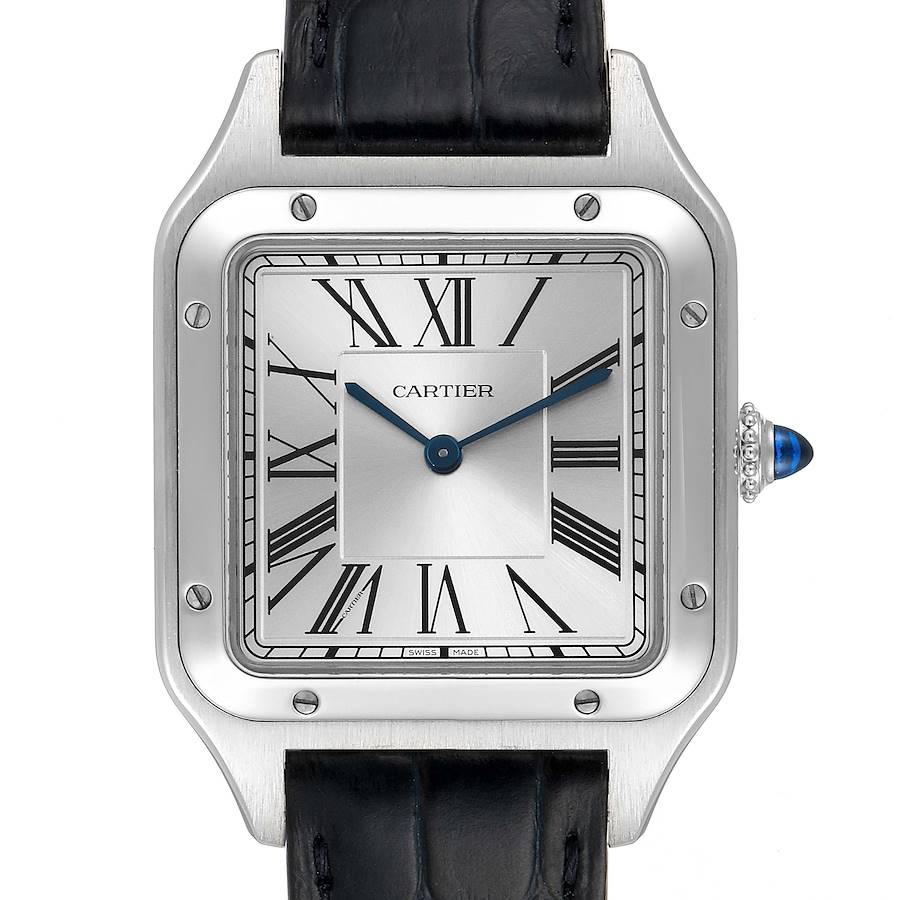 Cartier Santos Dumont Large Steel Mens Watch WSSA0022 SwissWatchExpo