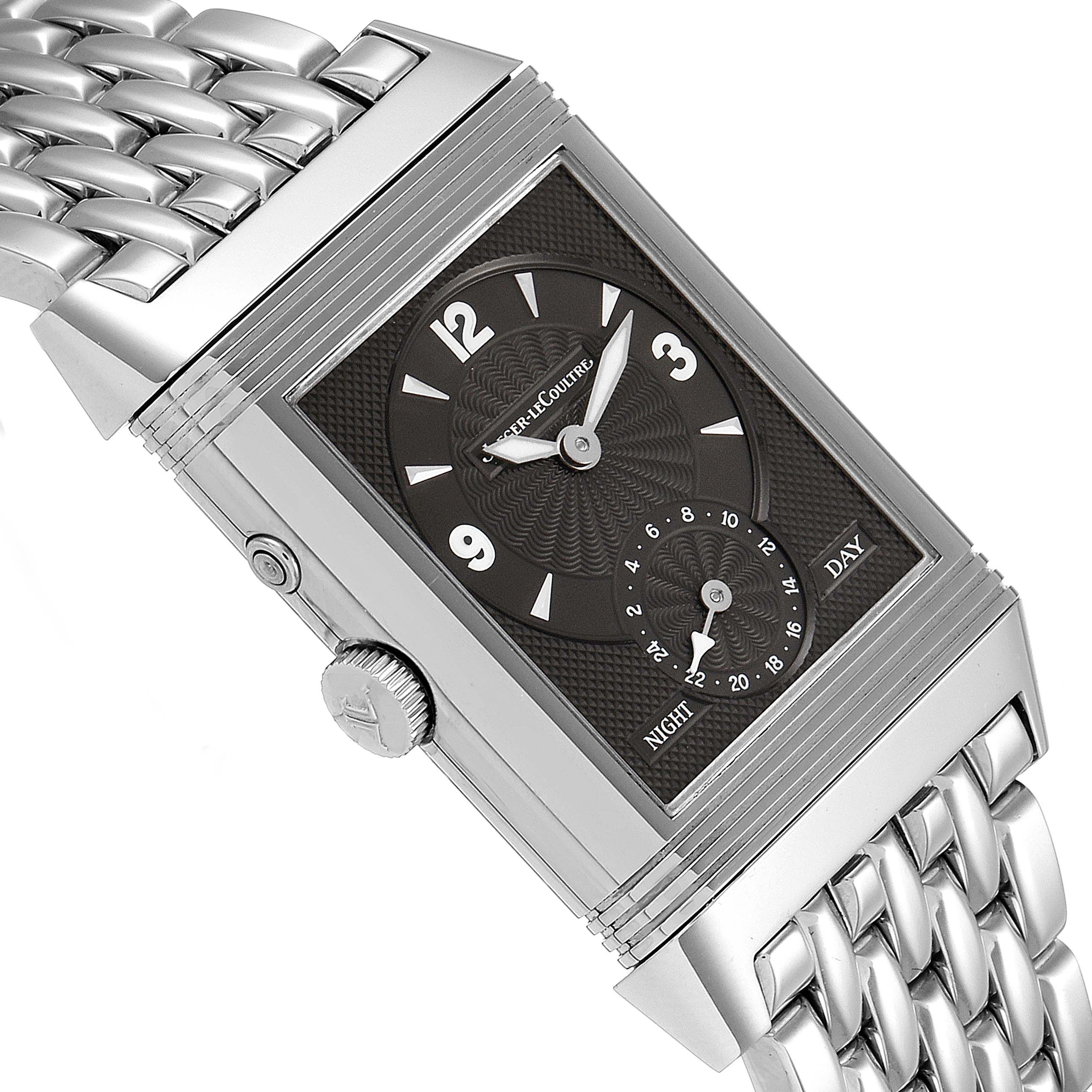 Jaeger LeCoultre Reverso Duo Day Night Steel Watch 270.8.54 Q270854 SwissWatchExpo