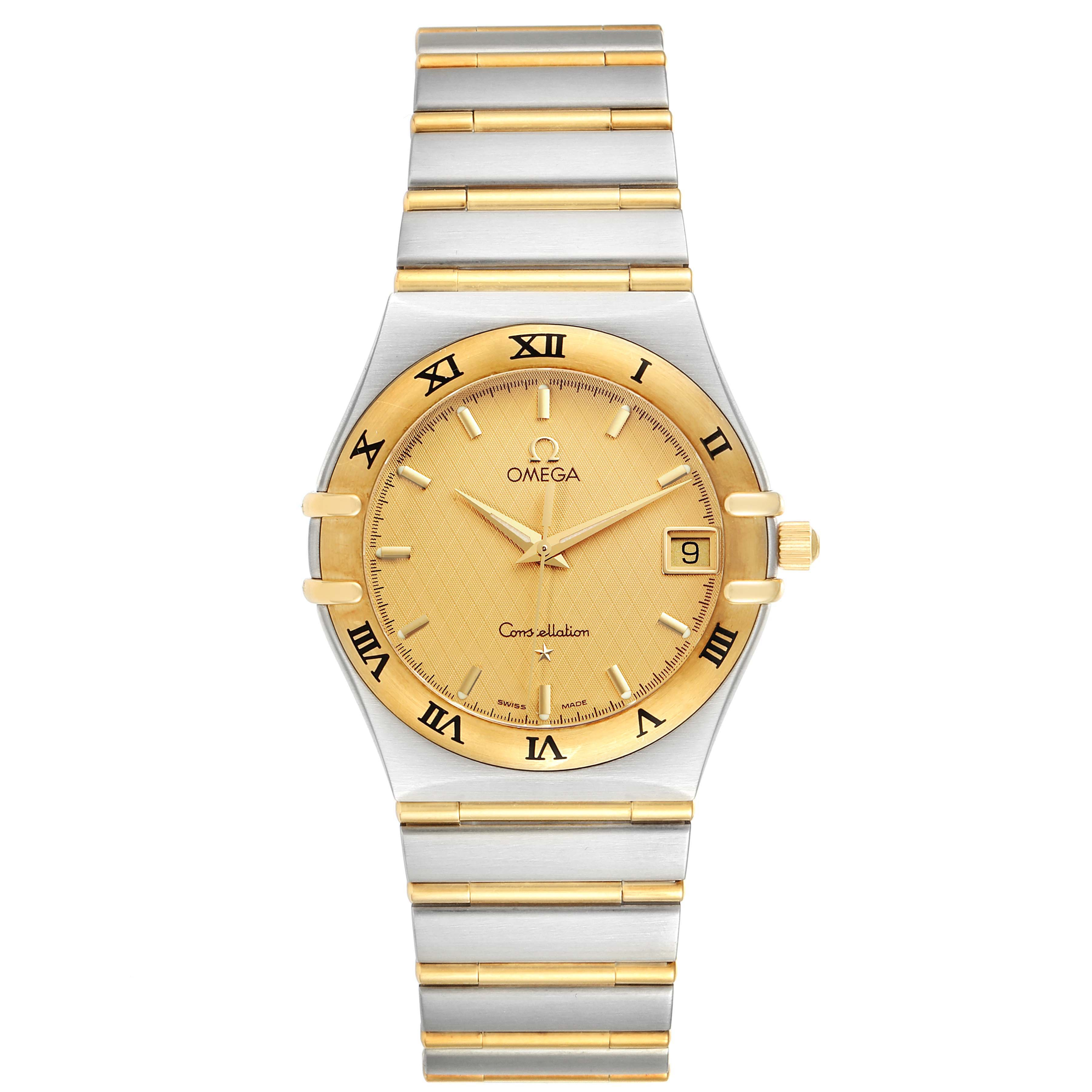 Omega Constellation Steel 18K Yellow Gold Mens Watch 1212.10.00 SwissWatchExpo