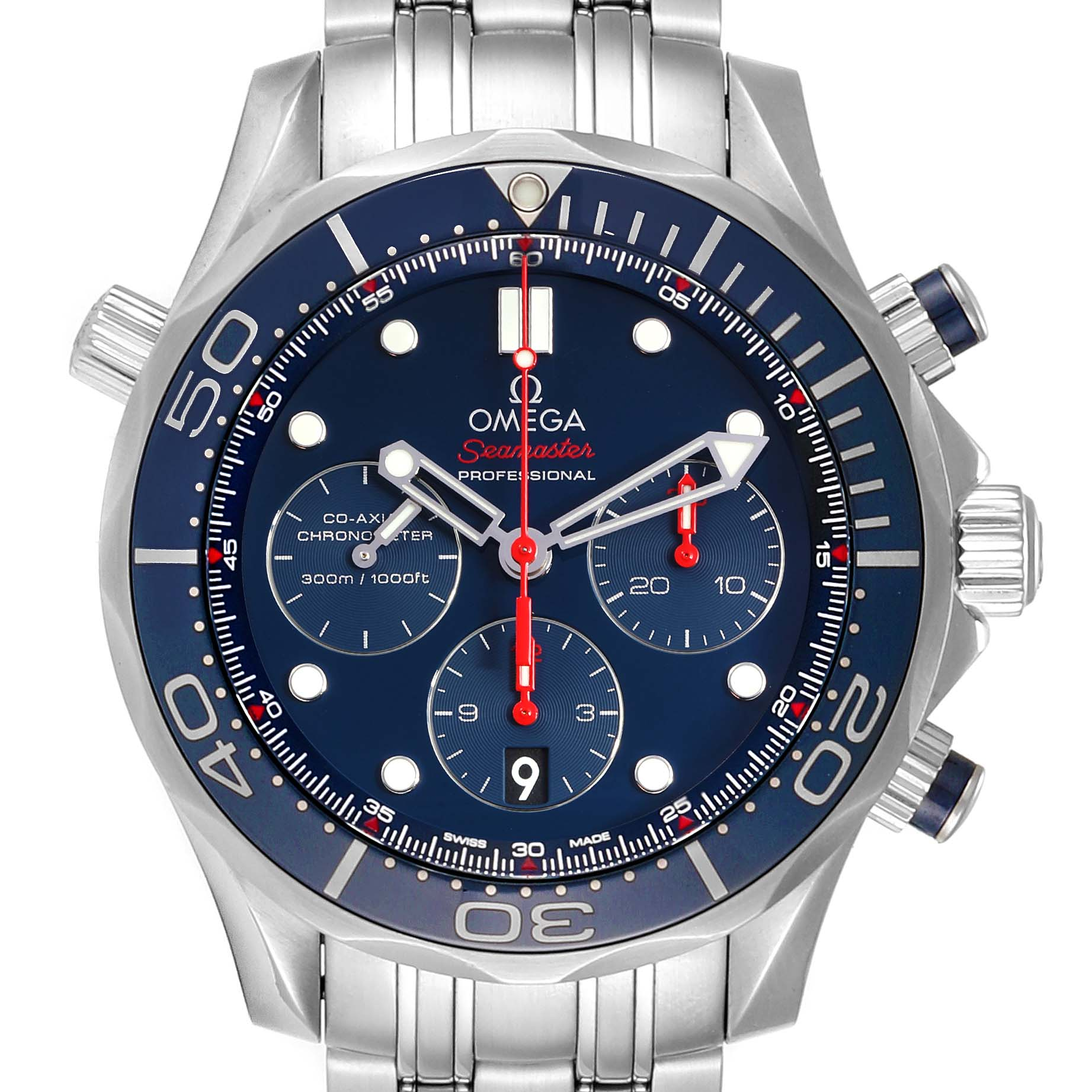 Omega Seamaster Diver 300M 44mm Watch 212.30.44.50.03.001 Card