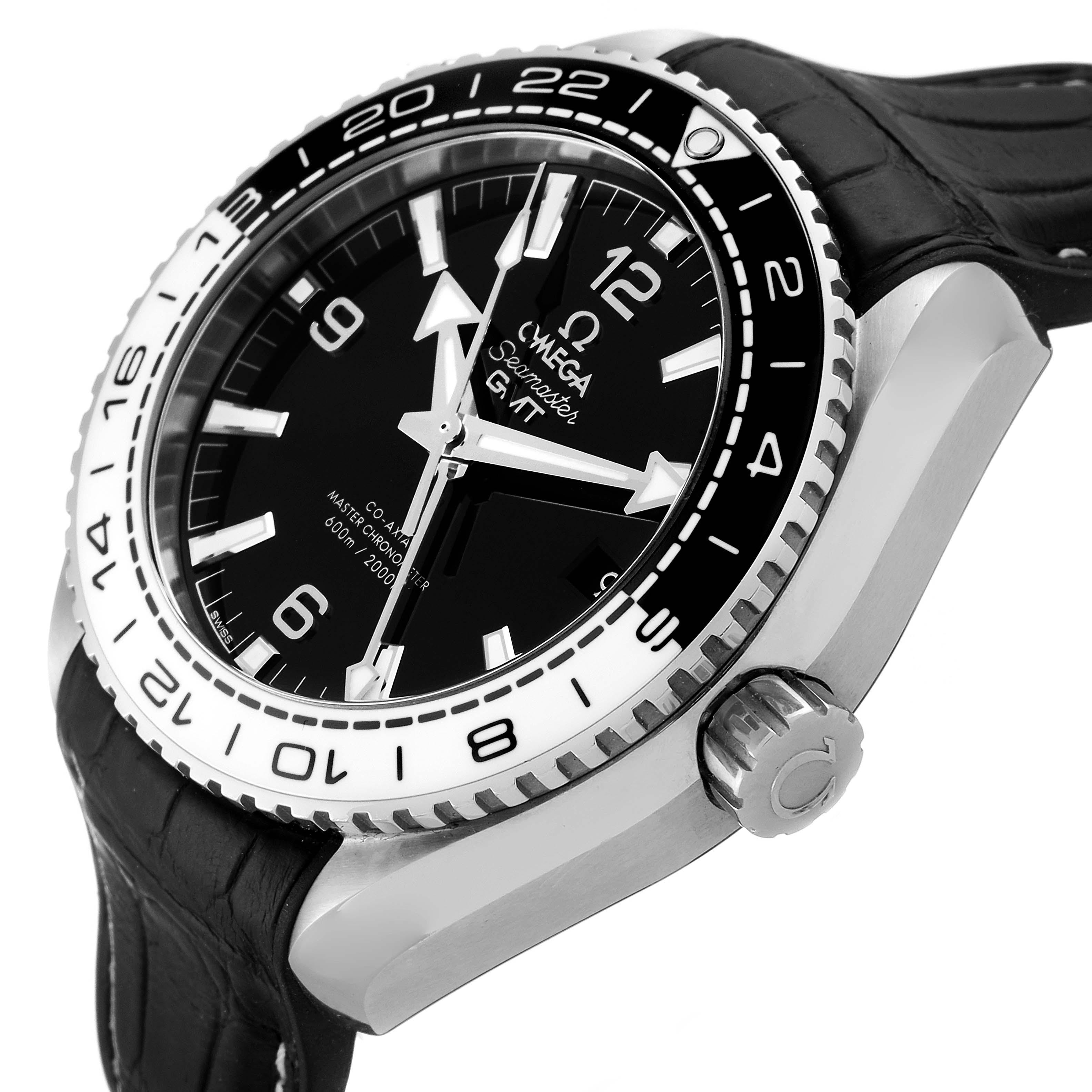 Omega Seamaster Planet Ocean GMT 600m Watch 215.33.44.22.01.001 Box Card SwissWatchExpo