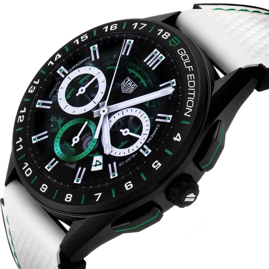 Tag Heuer Connected Golf Edition Titanium Mens Watch SBG8A82 Box Papers SwissWatchExpo