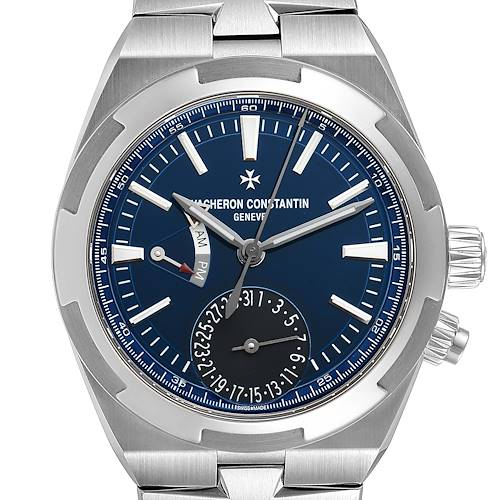 Photo of Vacheron Constantin Overseas Dual Time Blue Dial Steel Mens Watch 7900V
