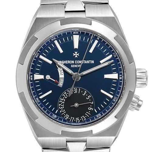 Photo of Vacheron Constantin Overseas Dual Time Blue Dial Steel Mens Watch 7900V