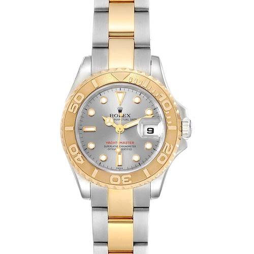 Photo of Rolex Yachtmaster Steel 18K Yellow Gold Ladies Watch 169623 Box