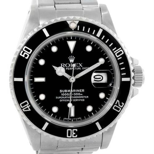 Photo of Rolex Submariner Vintage Stainless Steel Mens Watch 168000