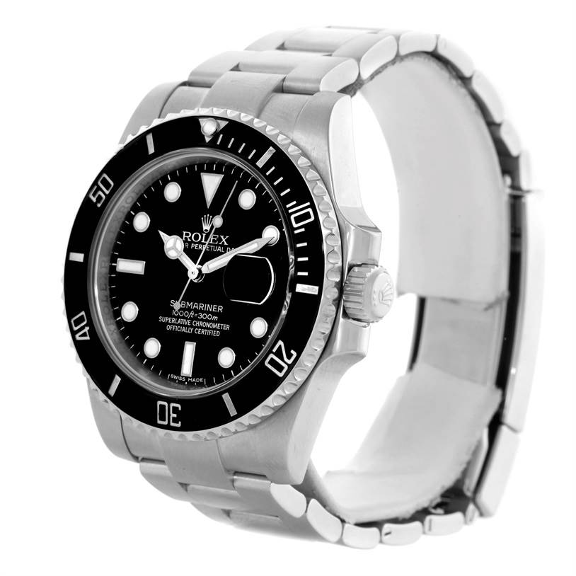 10259 Rolex Submariner Mens Steel Date Ceramic Bezel Watch 116610 SwissWatchExpo