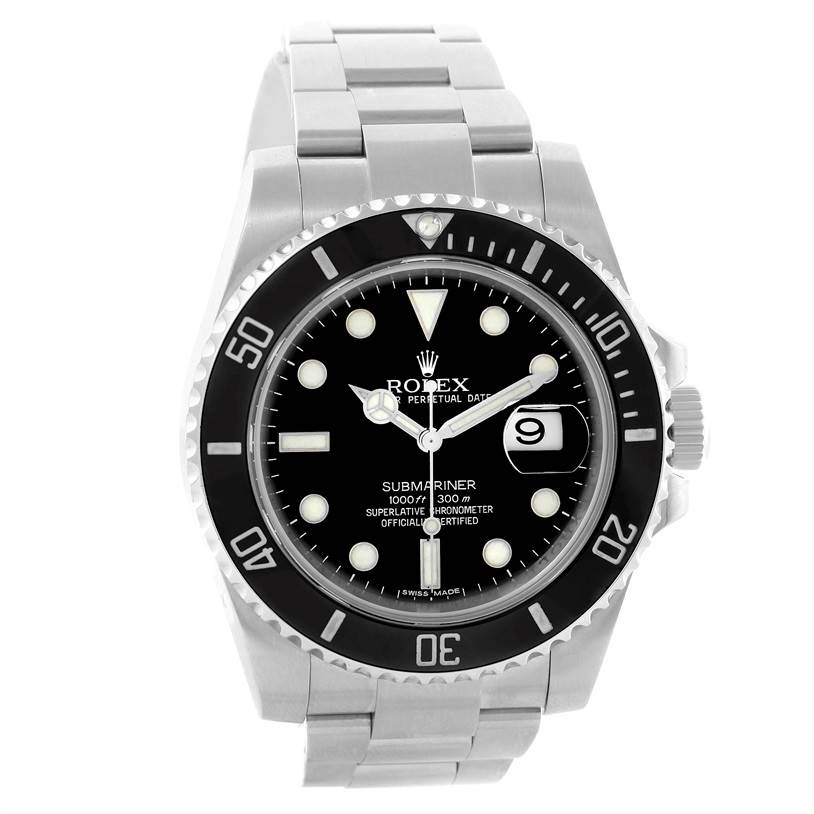 10683 Rolex Submariner Mens Steel Ceramic Bezel Black Dial Watch 116610 SwissWatchExpo