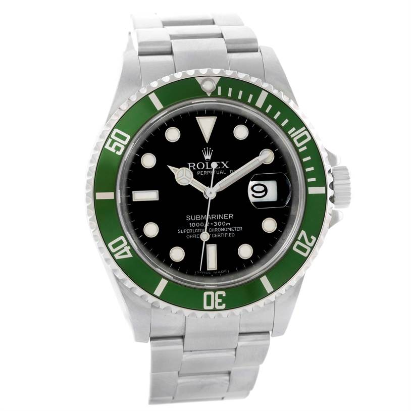 11414 Rolex Submariner Green Bezel 50th Anniversary Mens Watch 16610LV SwissWatchExpo