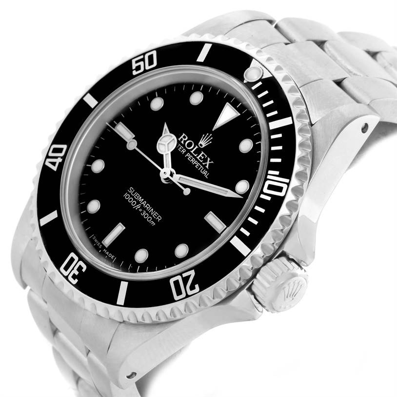 11428 Rolex Submariner No Date Black Dial Oyster Bracelet Mens Watch 14060 SwissWatchExpo