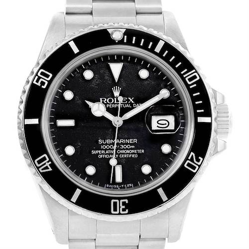 Photo of Rolex Submariner Date Stainless Steel Mens Vintage Watch 168000