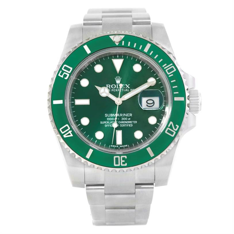 11235 Rolex Submariner Anniversary Green Dial Mens Watch 116610LV SwissWatchExpo