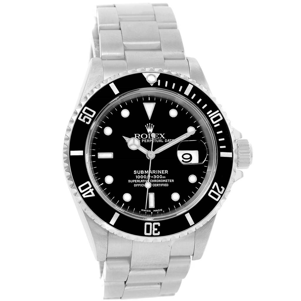 13325 Rolex Submariner Stainless Steel Black Dial Mens Watch 16610 Year 2004 SwissWatchExpo