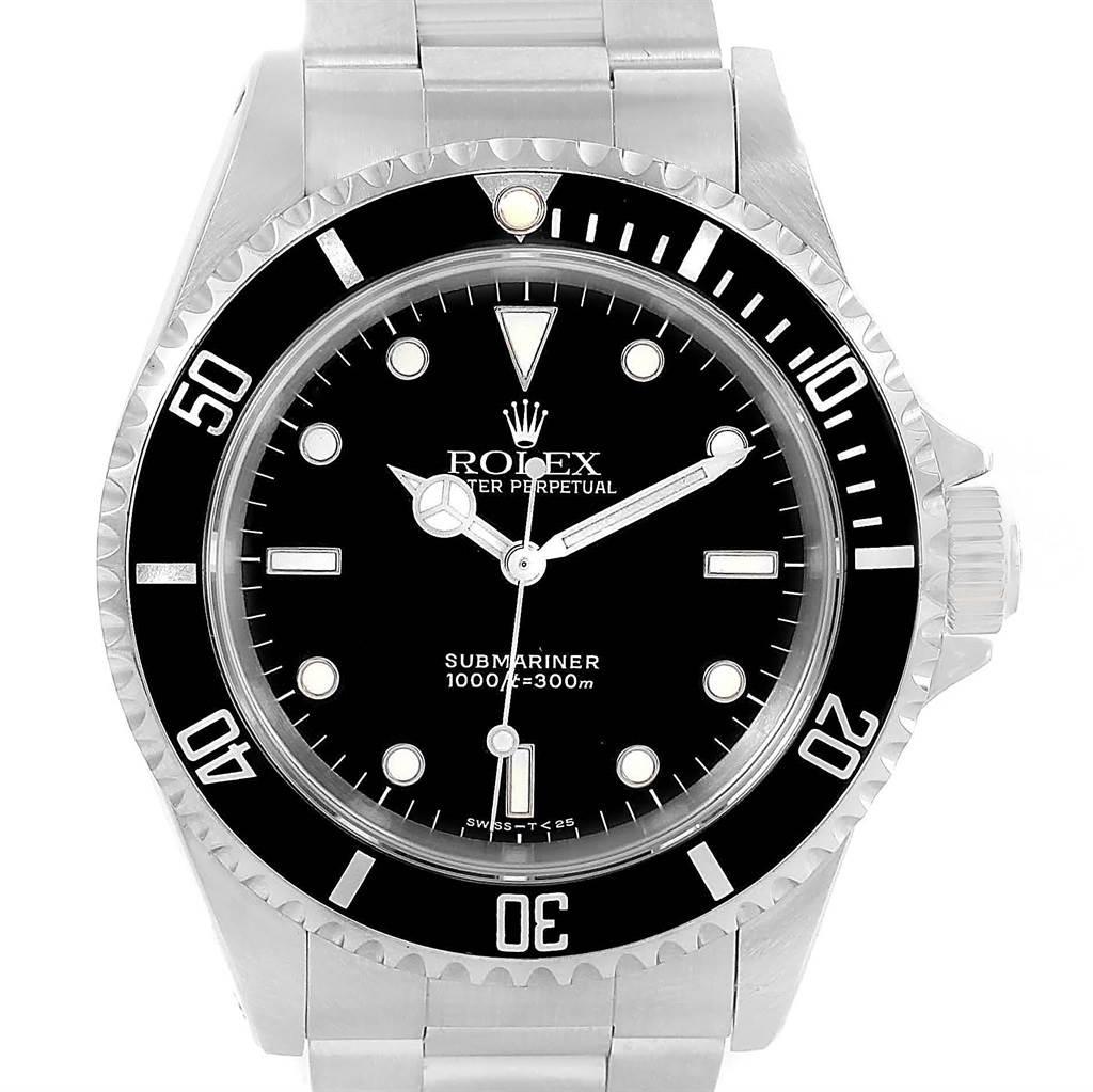 rolex submariner no date black dial steel mens watch 14060. Black Bedroom Furniture Sets. Home Design Ideas
