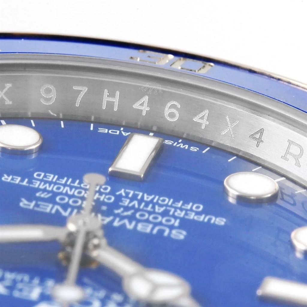 de82b301561 14345P Rolex Submariner 18K White Gold Blue Dial Ceramic Bezel Watch  116619LB SwissWatchExpo .