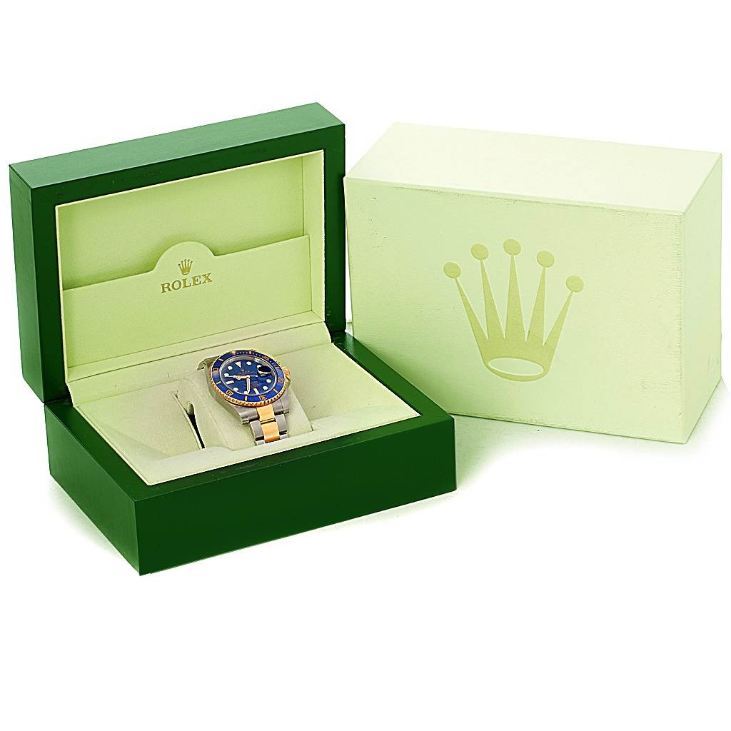 4615A Rolex Submariner Blue Dial Steel Yellow Gold Automatic Watch 116613 SwissWatchExpo