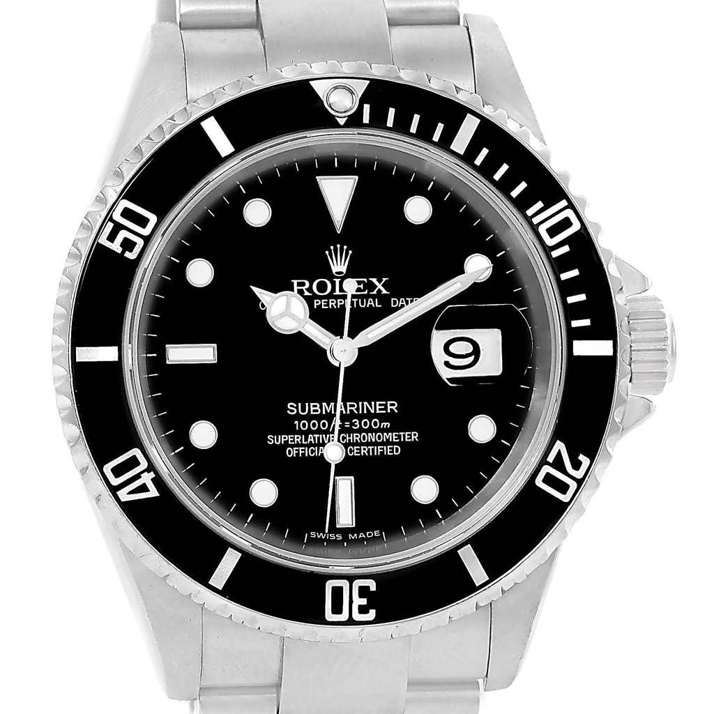 Rolex Submariner Steel Black Dial Automatic 40mm Mens ...