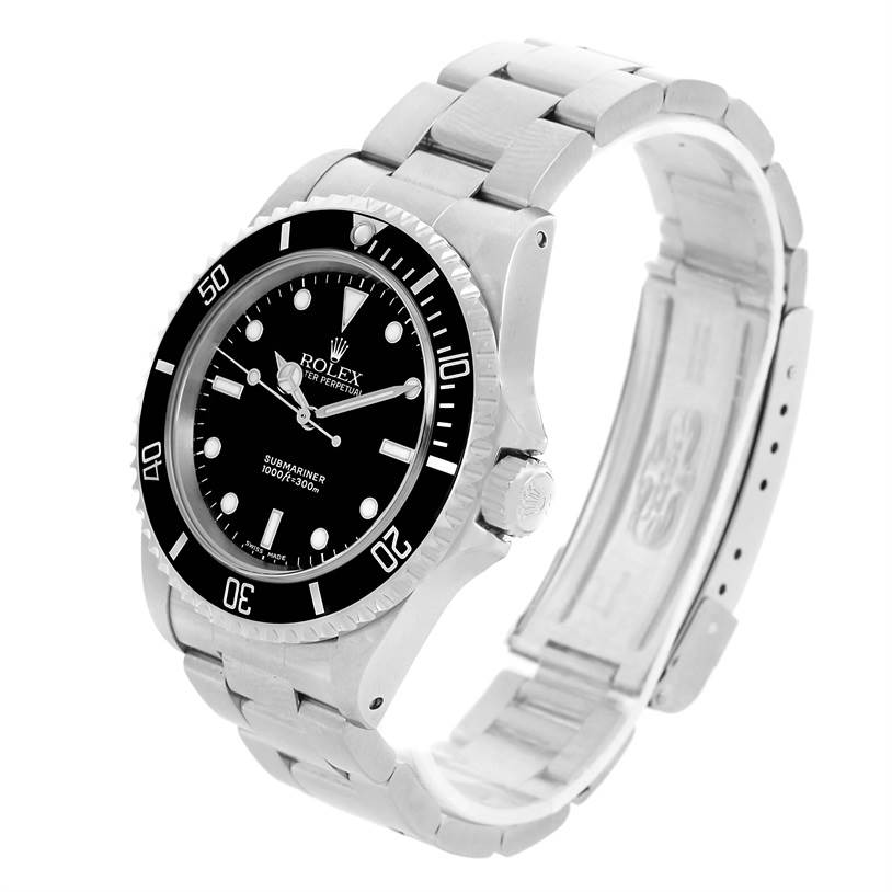 15000 Rolex Submariner No Date Black Dial Steel Mens Watch 14060 SwissWatchExpo