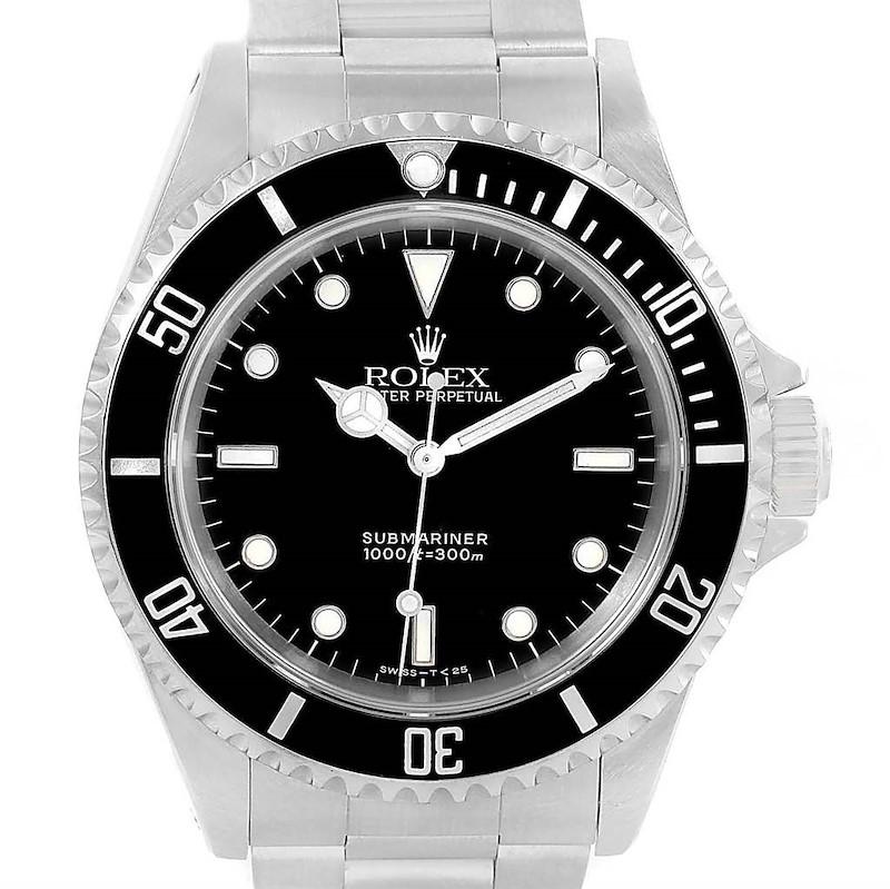 Rolex Submariner Non Date 2-Liner Automatic Steel Watch 14060 SwissWatchExpo