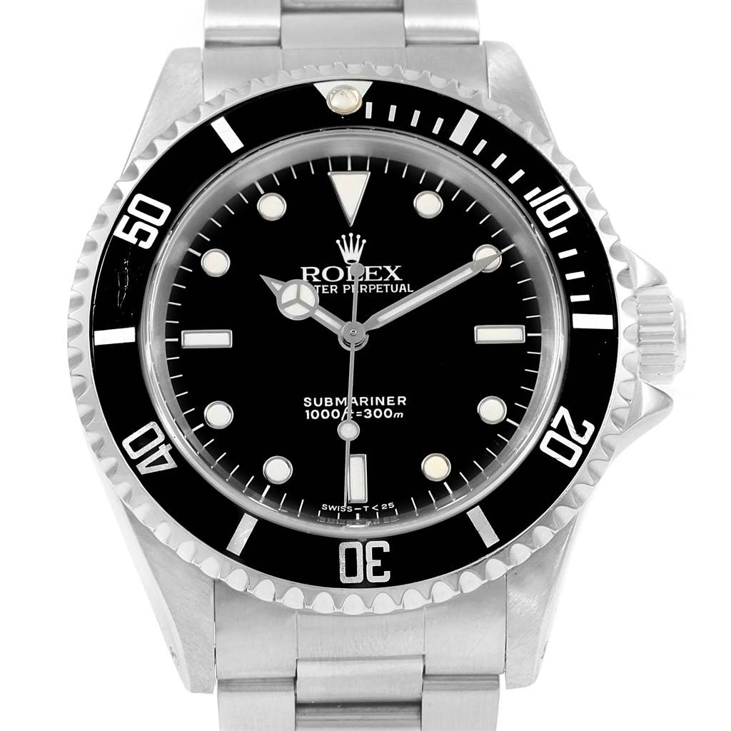 14990 Rolex Submariner Non Date 2-Liner Automatic 40mm Mens Watch 14060 SwissWatchExpo