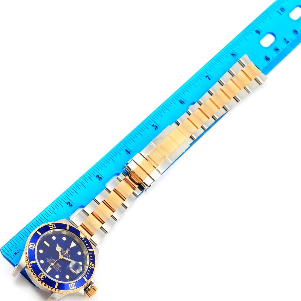 15128 Rolex Submariner Steel Yellow Gold Blue Dial Automatic Mens Watch 16613 SwissWatchExpo