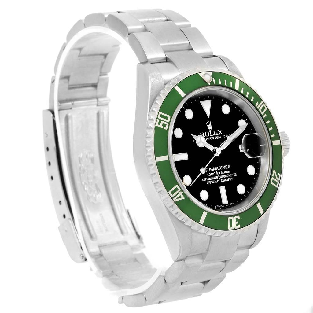 rolex submariner kermit green 50th anniversary mens watch 16610lv. Black Bedroom Furniture Sets. Home Design Ideas