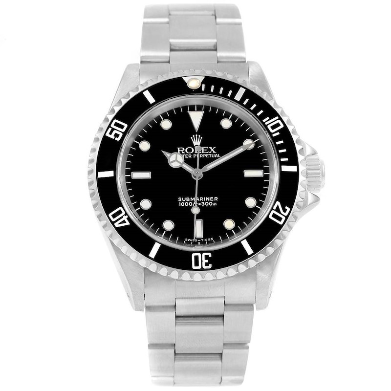 Rolex Submariner Non-Date 2 Liner Stainless Steel Mens Watch 14060 SwissWatchExpo