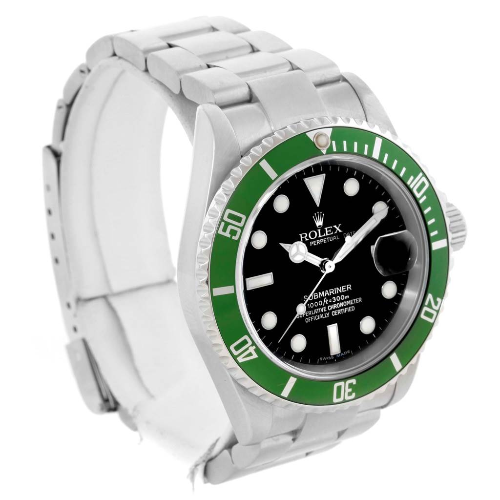rolex submariner 50th anniversary kermit green bezel watch 16610lv. Black Bedroom Furniture Sets. Home Design Ideas
