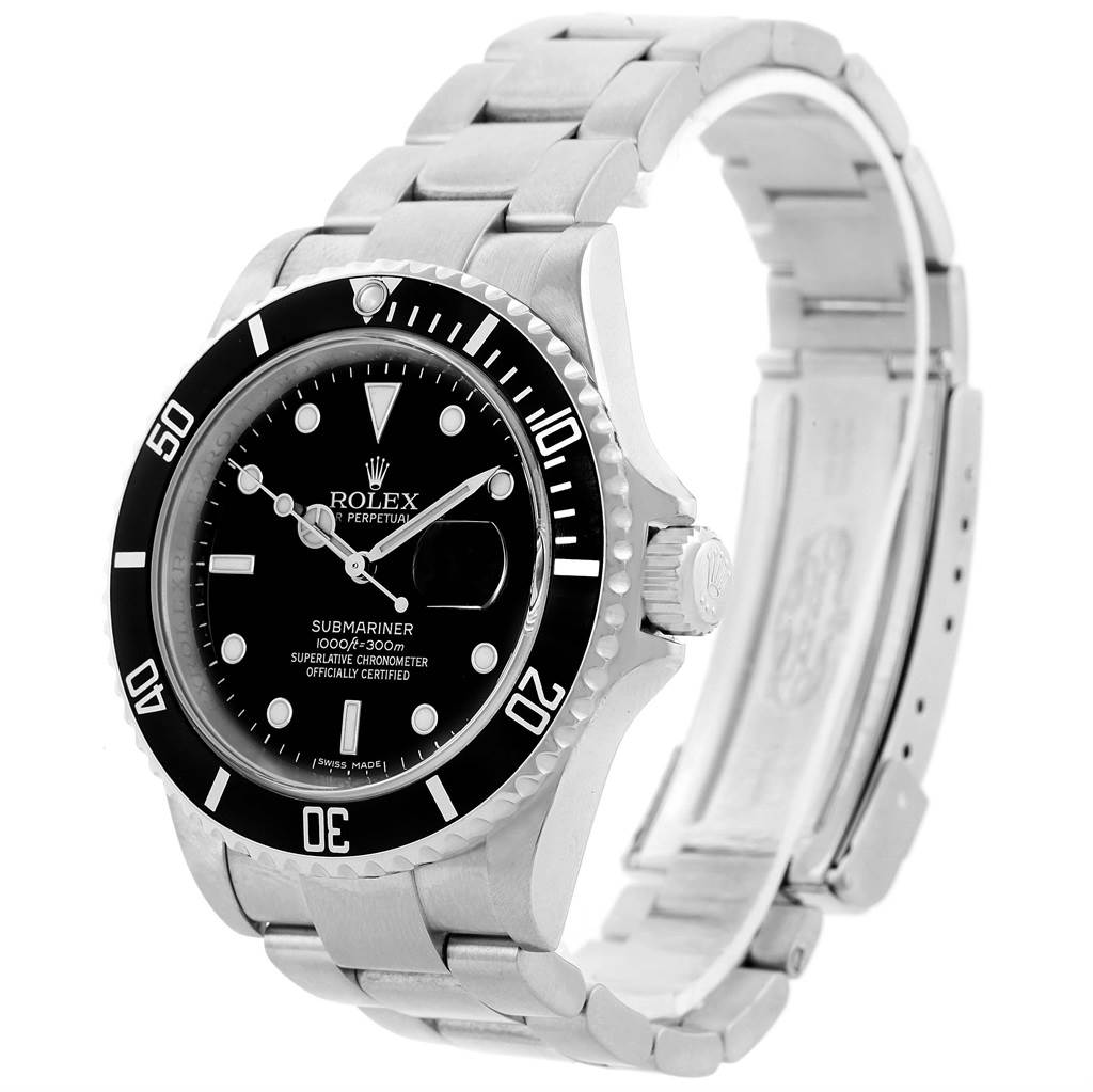 Rolex submariner 40mm black dial stainless steel mens watch 16610 for Watches 40mm
