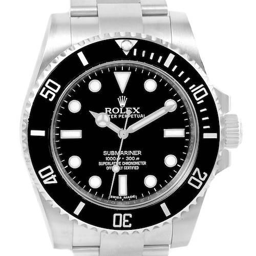 Photo of Rolex Submariner Non Date Mens Steel Black Dial Watch 114060 Unworn