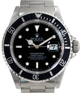 """Photo of Rolex Mens Ss Submariner Watch 16610 """"w"""" Serial"""