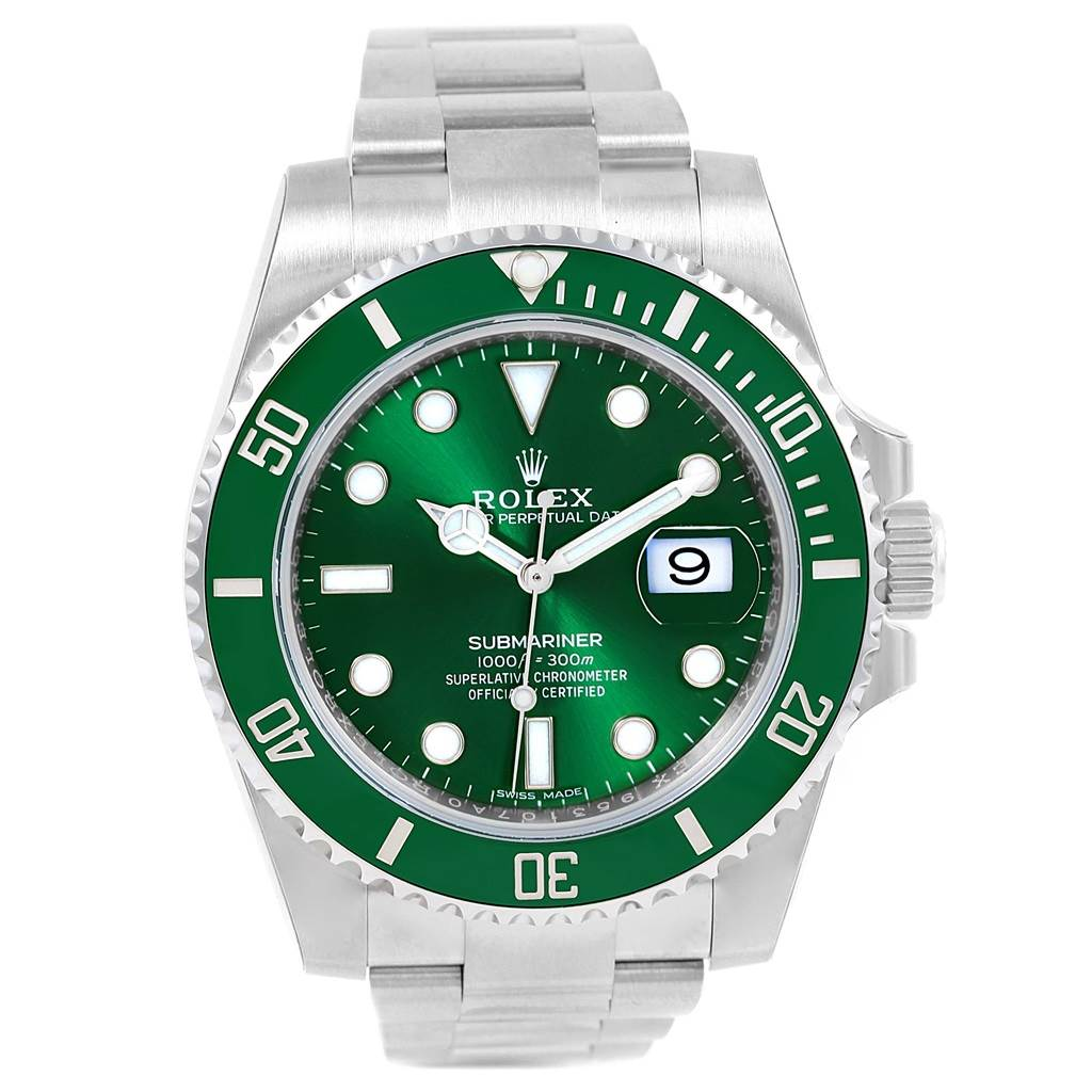 Rolex Submariner Hulk Green Ceramic Bezel Watch 116610LV Unworn