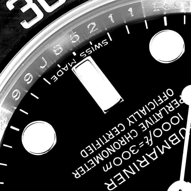1401217a417 16982 Rolex Submariner 40 Cerachrom Bezel Black Dial Watch 116610 Box  Papers SwissWatchExpo .