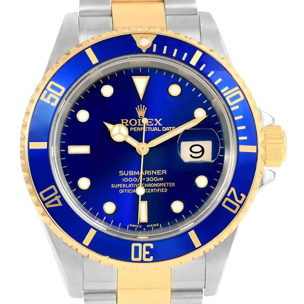 Rolex submariner blue stainless steel