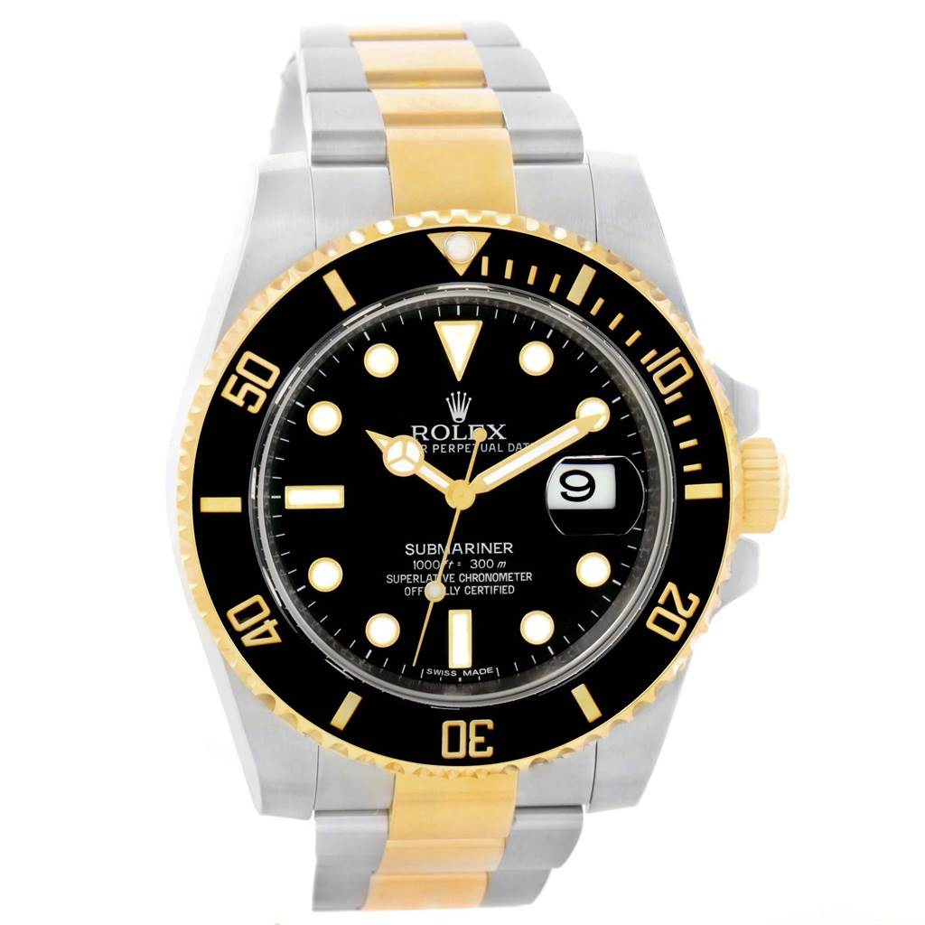 Rolex Submariner Steel Yellow Gold Black Dial Automatic Watch 116613