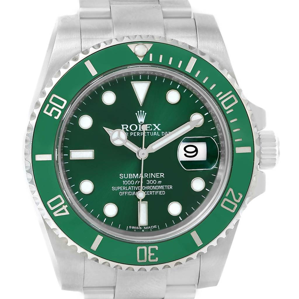 Rolex Submariner Hulk Green Dial Bezel Steel Watch 116610LV