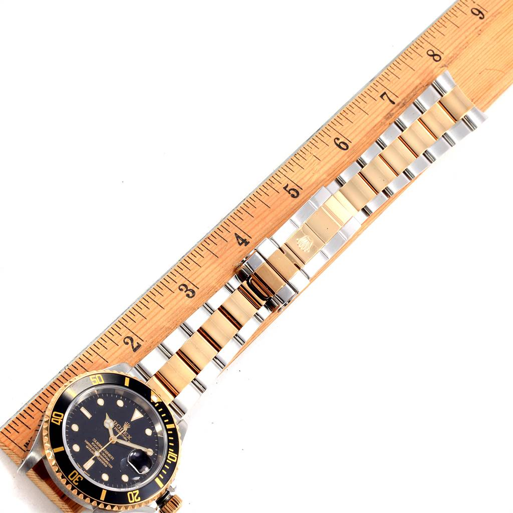 Rolex Submariner Two Tone Steel Yellow Gold Mens Watch 16613 SwissWatchExpo