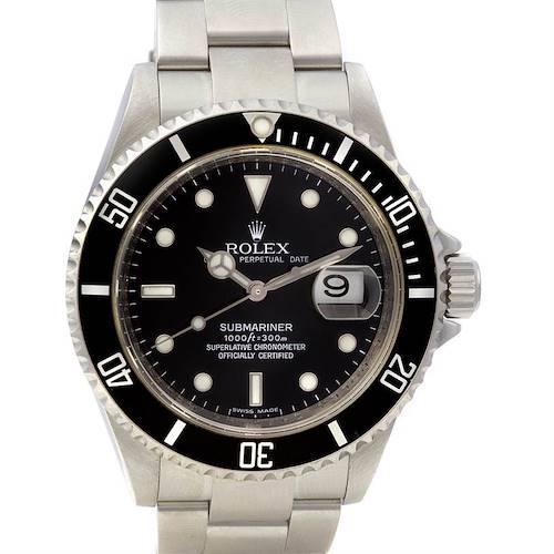 Photo of Rolex Submariner Mens Ss Watch 16610 Year 2007