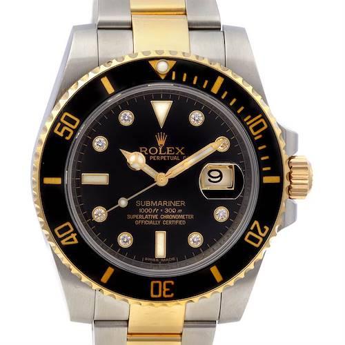 Photo of Rolex Submariner 116613 Ss 18k Gold Diamond Ceramic Bzl