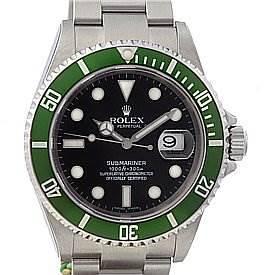 Photo of Rolex Green Submariner 16610lv Year 2005 - Unworn
