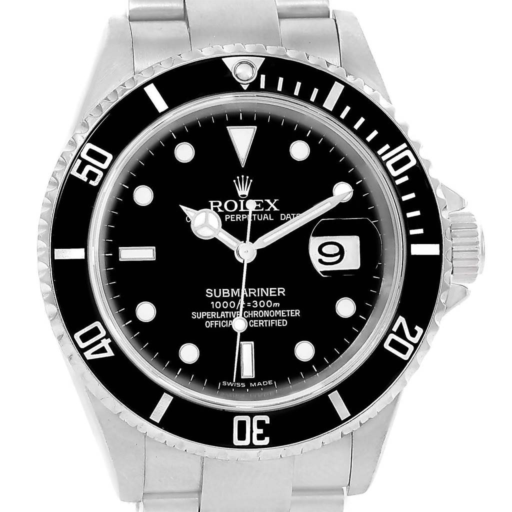 Rolex Submariner Date Black Dial Automatic Mens Watch 16610
